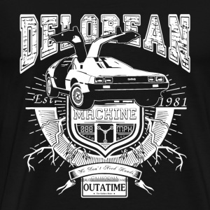 Back to the future Delorean doc brown marty mcfly - Men's Premium T-Shirt