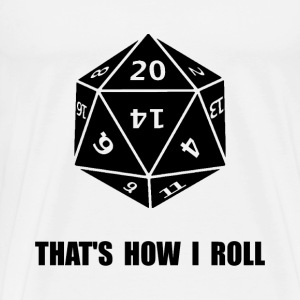 20 Sided Dice Roll - Men's Premium T-Shirt