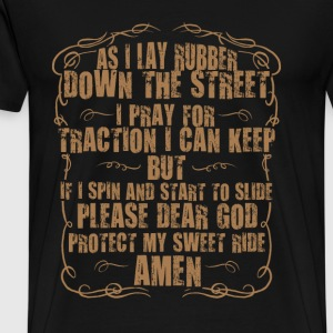 Bikers for christ - Dear god protect my sweet ride - Men's Premium T-Shirt