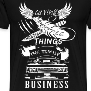 Supernatural - Saving people hunting things Tshirt - Men's Premium T-Shirt