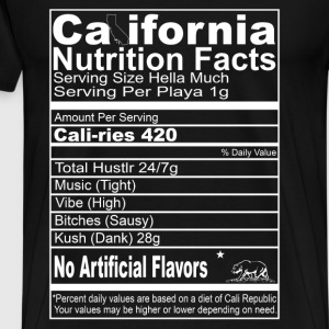 California nutrition facts - No artificial flavors - Men's Premium T-Shirt