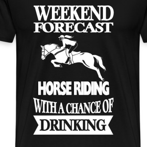 Horseman - Horse riding with a chance of drinking - Men's Premium T-Shirt