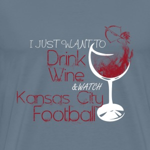 Kansas city - Just want to drink wine t-shirt - Men's Premium T-Shirt