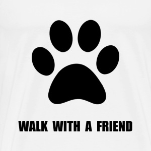Walk With A Friend Pet - Men's Premium T-Shirt