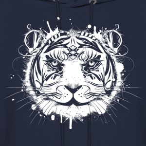 Head of a white tiger Hoodies - Men's Hoodie