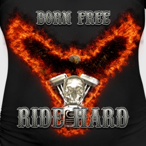 Born Free Ride Hard T-Shirts - Women's Maternity T-Shirt