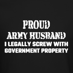 Proud Army Husband Shirt - Crewneck Sweatshirt