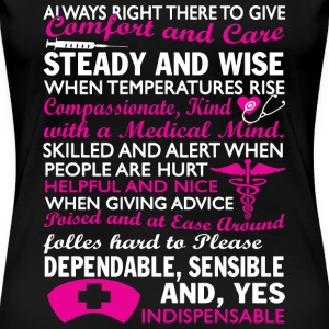 Nurse - Always right there to give awesome t-shi - Women's Premium T-Shirt