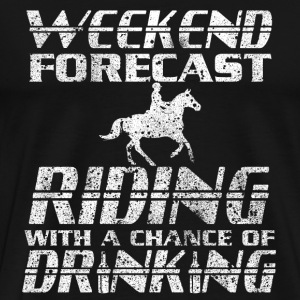 Riding with a chance of drinking t-shir - Men's Premium T-Shirt