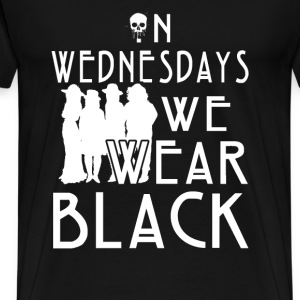Horror - On wednesdays we wear black horror Tshirt - Men's Premium T-Shirt