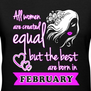 Best Woman Born In February - Women's V-Neck T-Shirt