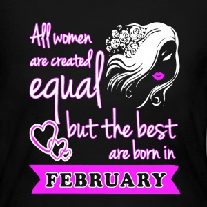 Best Woman Born In February - Women's Long Sleeve Jersey T-Shirt