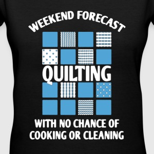 Weekend Forecast Quilting - Women's V-Neck T-Shirt