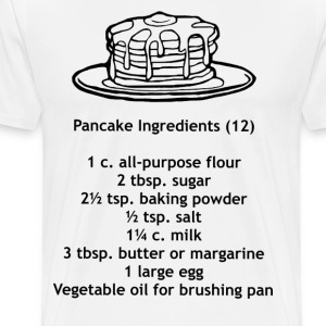 Pancake Ingredients T-Shirt - Men's Premium T-Shirt