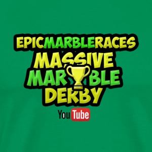 Marble Race Derby - Green - Men's Premium T-Shirt