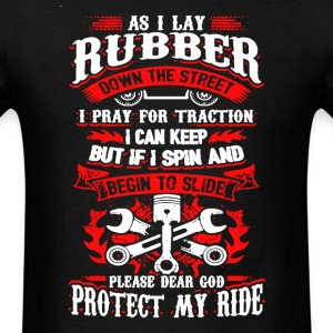 As I Lay Rubber Mechanic - Men's T-Shirt