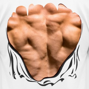 Back Muscles-Ripped Shirt T-Shirts - Men's T-Shirt by American Apparel