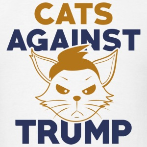 Cats Against Trump - Men's T-Shirt