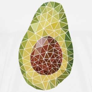 Avocado (Polygon Style) T-Shirts - Men's Premium T-Shirt