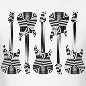 Electric Guitars Outlines - Men's T-Shirt