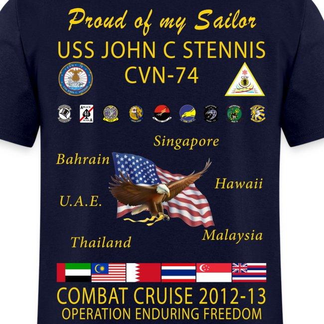 USS JOHN C STENNIS 2012-13 CRUISE SHIRT - FAMILY EDITION