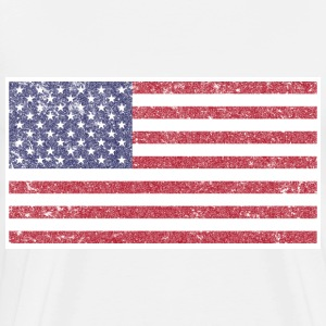Retro American Flag T-Shirt by Chummy Tees - Men's Premium T-Shirt