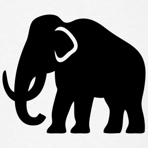 Mammoth (Ice-Age Elephant) Silhouette T-Shirts - Men's T-Shirt