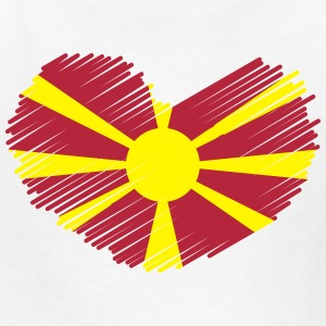 Macedonia Love Heart Flag Drawing Kids' Shirts - Kids' T-Shirt