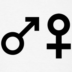 Male (Man) Female (Woman) Symbols T-Shirts - Men's T-Shirt
