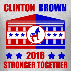 CLINTON BROWN STRONGER TOGETHER - Men's T-Shirt