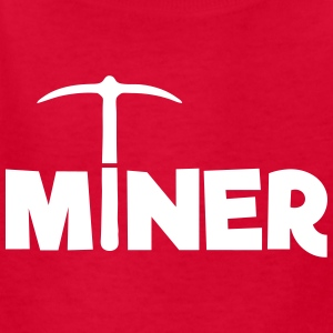 Miner (Pickaxe) Mining Game Kids' Shirts - Kids' T-Shirt