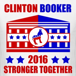 CLINTON BOOKER STRONGER TOGETHER - Men's T-Shirt