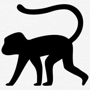 Monkey Silhouette T-Shirts - Men's T-Shirt