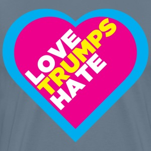LOVE TRUMPS HATE MULTICOLOR - Men's Premium T-Shirt