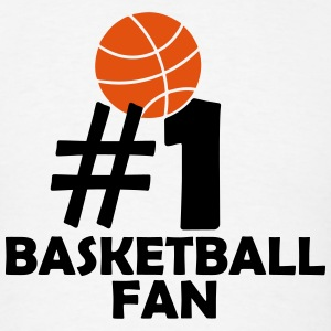 #1 BASKETBALL FAN (Number One) T-Shirts - Men's T-Shirt