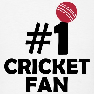 #1 CRICKET FAN (Number One) T-Shirts - Men's T-Shirt