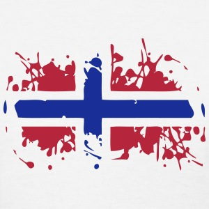 Norway Painted Flag T-Shirts - Women's T-Shirt