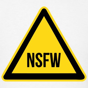 NSFW Sign (Not Safe For Work) Symbol T-Shirts - Men's T-Shirt