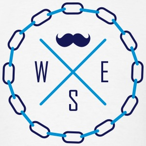 Mustache, South, East and West (North, S, E & W) T-Shirts - Men's T-Shirt