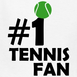 #1 TENNIS FAN (Number One) Kids' Shirts - Kids' T-Shirt