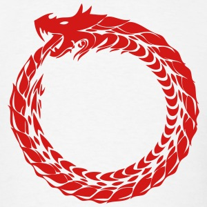 Ouroboros Dragon Art (Eating Tail) T-Shirts - Men's T-Shirt
