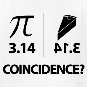 Pie Coincidence? - 3.14 Backwards Kids' Shirts - Kids' T-Shirt