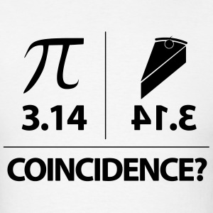 Pie Coincidence? - 3.14 Backwards T-Shirts - Men's T-Shirt