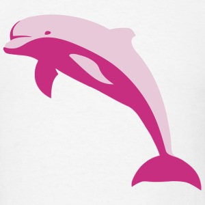 Pink Jumping Dolphin T-Shirts - Men's T-Shirt
