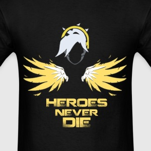 Mercy - Heroes Never Die - Men's T-Shirt