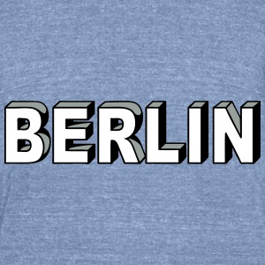 BERLIN Block Letters T-Shirts - Unisex Tri-Blend T-Shirt by American Apparel