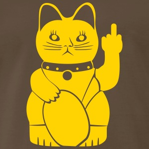 Winkekatze with middle finger Shirt - Men's Premium T-Shirt