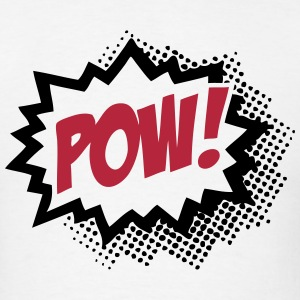POW! (Cartoon Comic Word Sign) T-Shirts - Men's T-Shirt
