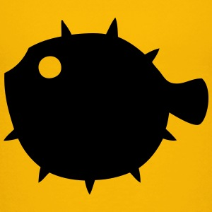 Pufferfish Silhouette Baby & Toddler Shirts - Toddler Premium T-Shirt