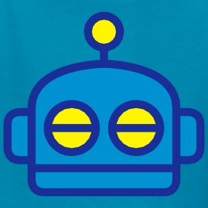 Cute Cartoon Robot Head Kids' Shirts - Kids' T-Shirt
